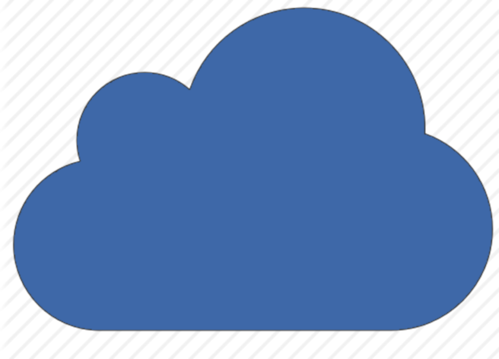 Cloud icon, showing the public cloud of company.