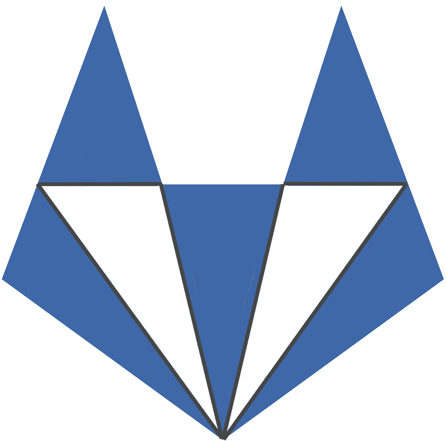 Icon of the fox of gitlab, which is blue in color.