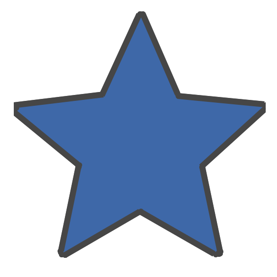 Icon showing blue star, meant for showing the new project.
