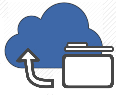 Cloud with folder in it, Оbject storage
